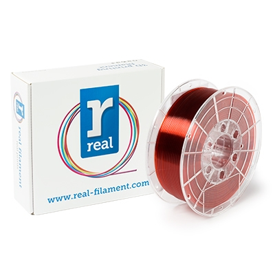 REAL PETG - Red (Translucent) - Spool of 1Kg - 1.75mm