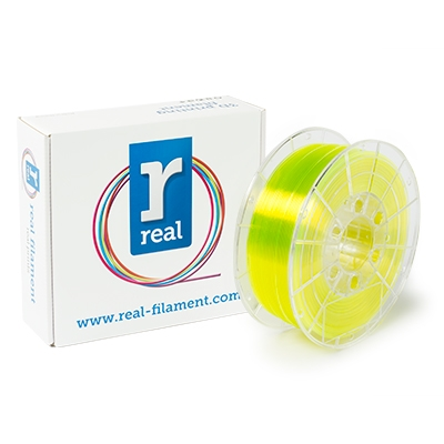 REAL PETG - Yellow (Translucent) - Spool of 1Kg - 1.75mm