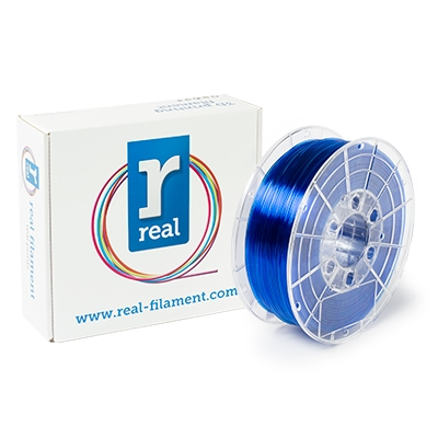 REAL PETG - Blue (Translucent) - Spool of 1Kg - 1.75mm