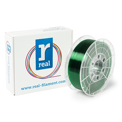 REAL PETG - Green (Translucent) - Spool of 1Kg - 1.75mm
