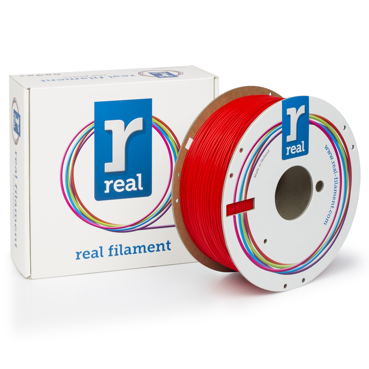 REAL PLA - Red - spool of 1Kg - 1.75mm
