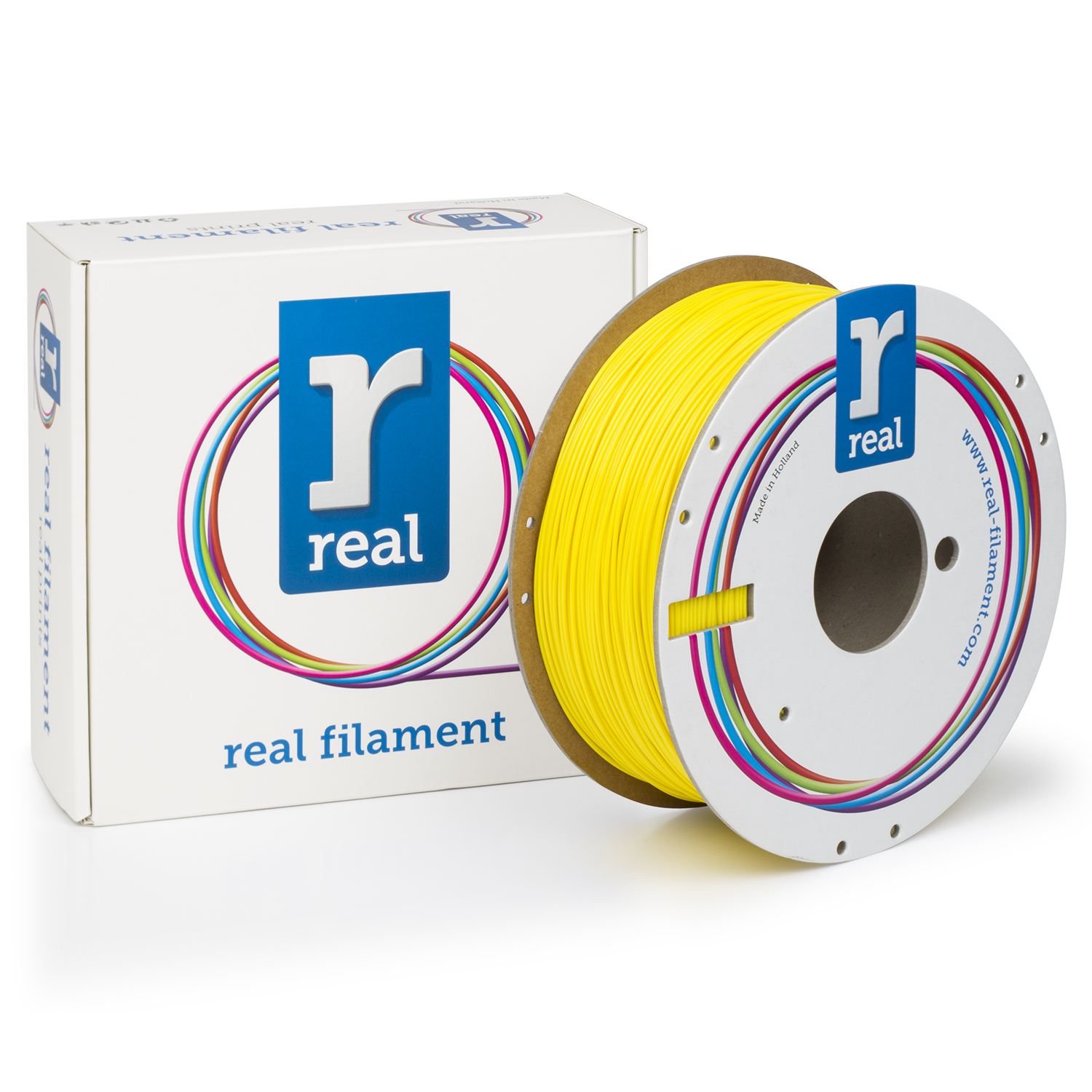 REAL PLA - Yellow - spool of 1Kg - 1.75mm